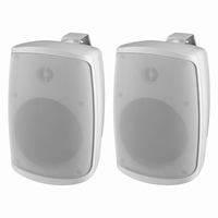 MONACOR WALL-06/WS, pair wall PA speakers, 100V/8Ω, IP65