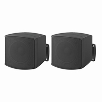 MONACOR MKS-26/SW, pair wall mount miniature speakers, 8Ω