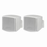 MONACOR MKS-26/WS, pair wall mount miniature speakers, 8Ω