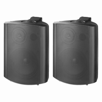 MONACOR MKS-64/SW, pair wall mount speakers, 4Ω