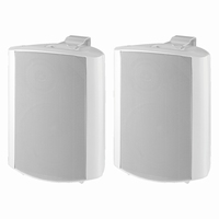 MONACOR MKS-64/WS, pair wall mount speakers, 4Ω