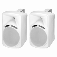 MONACOR PAB-68/WS, pair wall mount speakers, 8Ω