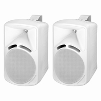 MONACOR PAB-88/WS, pair wall mount speakers, 8Ω