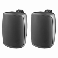 MONACOR WALL-04/SW, pair wall mount speakers, 8Ω, IP65
