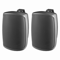 MONACOR WALL-06/SW, pair wall mount speakers, 8Ω, IP65