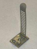 Mounting clip nylon, holds 0-Ø26mm, self adhesive/screw