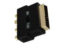 KACSA AA701G scart/3xcinch/Svideo adaptor<br />Price per piece