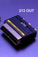 PURESONIC 213OUT, scart/3xcinch adaptor, SCART OUT