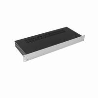 """MODU Slimline 1SL01170B, 1U/19"""" zilver front, 170mm diep<br />Price per piece"""