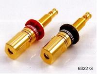 PURESONIC 6322G, Spring Binding Post, 13mm, 6mm rod, box of
