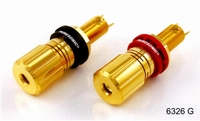 PURESONIC 6326G, Spring Binding Post, gold plated, 14mm, 6mm