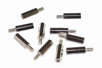 Spacer  M3x15mm, hexagonal, metal, M3, rod M3x8mm <br />Price bag of 10