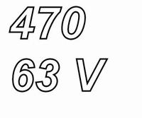 PANASONIC FCA,  470uF/63V electrolytic capacitor, radial, 10