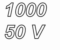 PANASONIC FRA 1000uF/50V, pitch 7,5mm, 105º, low ESR, 10.000