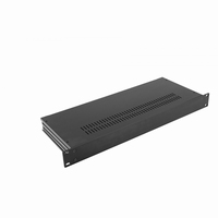 "MODU Slimline 1SL01170N, 1U/19""  black front, 170mm deep<br />Price per piece"