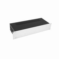 """MODU Slimline Cabinet, 2U/19"""" alu front silver, 435x170x80mm<br />Price per piece"""