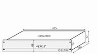 """MODU Slimline 1SL02280B, 2U/19"""" zilver front, 280mm diep<br />Price per piece"""