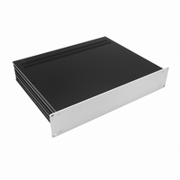 """MODU Slimline 1SL02350B, 2U/19"""" zilver front, 350mm diep<br />Price per piece"""