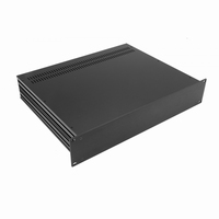 "MODU Slimline 1SL02350N, 2U/19""  black front, 350mm deep<br />Price per piece"