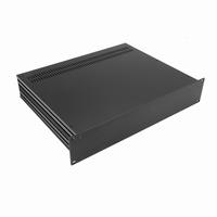 """MODU Slimline 1SL02350N, 2U/19"""" zwart front, 350mm diep<br />Price per piece"""
