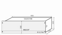 """MODU Slimline 1SL03170B, 3U/19"""" Silber Front, 170mm Tief<br />Price per piece"""