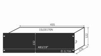 """MODU Slimline 1SL03170N, 3U/19"""" Schwarzes Front, 170mm Tief<br />Price per piece"""
