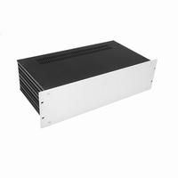 "MODU Slimline 1SL03230B, 3U/19""  silver front, 230mm deep<br />Price per piece"