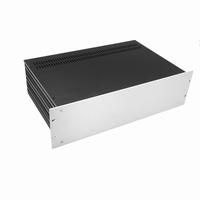 """MODU Slimline 1SL03280B, 3U/19"""" Silber Front, 280mm Tief<br />Price per piece"""
