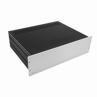 """MODU Slimline Cabinet, 3U/19"""" alu front silver, 435x350x120m<br />Price per piece"""