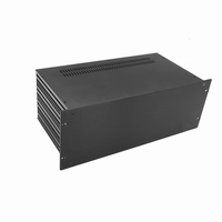 "MODU Slimline 1SL04230N, 4U/19""  black front, 230mm deep<br />Price per piece"