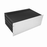 """MODU Slimline 1SL04280B, 4U/19"""" zilver front, 280mm diep<br />Price per piece"""