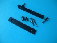 MODU 3U Flat handles, 20x5mm brushed, black oxidised.<br />Price per pair