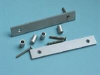 MODU 4U Flat handles, 20x5mm brushed, silver oxidised.<br />Price per pair