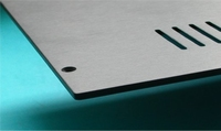 MODU Slimline series alu top cover, brushed/oxidized, 230mm