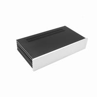 MODU Slimline 1NSL02230B, 10mm silver front, 435x243x82mm