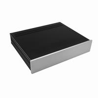 MODU Slimline 1NSL02350B, 10mm Silber Front, 350mm Tief<br />Price per piece