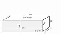 MODU Slimline 1NSL03170B, 10mm silver front, 435x183x122mm