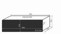 MODU Slimline 1NSL03170N, 10mm Schwarzes Front, 170mm Tief