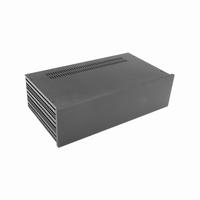 MODU 1NSL03230N, Slimline Cabinet, 10mm alu front black, 435