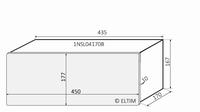 MODU Slimline 1NSL04170B, 10mm silver front, 435x183x167mm