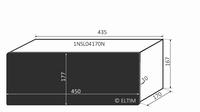 MODU Slimline 1NSL04170N, 10mm black front, 435x183x167mm