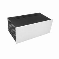 MODU Slimline 1NSL04230B, 10mm silver front, 435x243x167mm