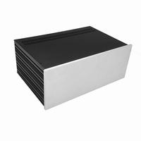 MODU Slimline 1NSL04280B, 10mm silver front, 435x293x167mm