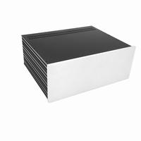 MODU Slimline 1NSL04350B, 10mm Silber Front, 350mm Tief<br />Price per piece