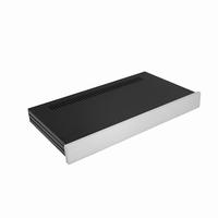 MODU Slimline 1NSLA01230B, 10mm  silver front, FA,230mm deep<br />Price per piece