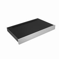 MODU Slimline 1NSLA01280B, 10mm  silver front, FA,280mm deep<br />Price per piece