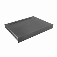 MODU Slimline 1NSLA01350N, 10mm  black front, FA, 350mm deep<br />Price per piece