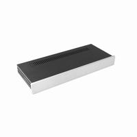 MODU Slimline cabinet, full aluminium, 10mm silver front, 43<br />Price per piece