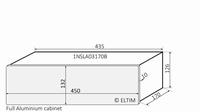 MODU Slimline 1NSLA03170B,10mm silver front, 435x183x124mm