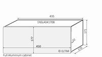 MODU Slimline 1NSLA04170B, 10mm zilver front, FA, 170mm diep<br />Price per piece